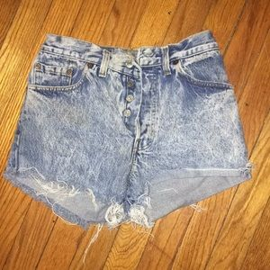 Vintage Levi button fly shorts